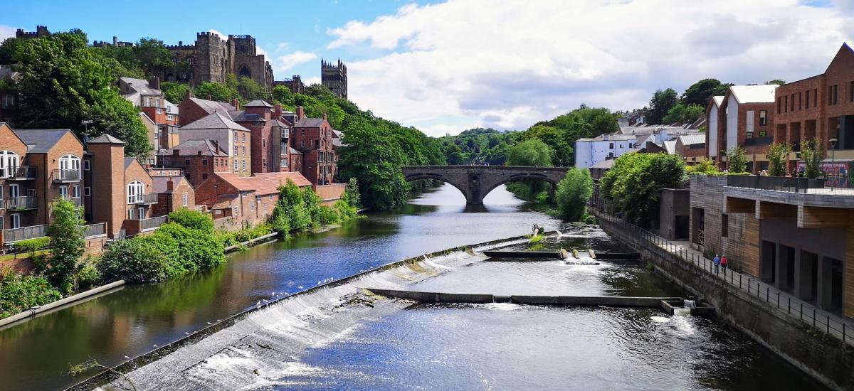 Durham from Milburngate Bridge. Photograph by Graham Soult