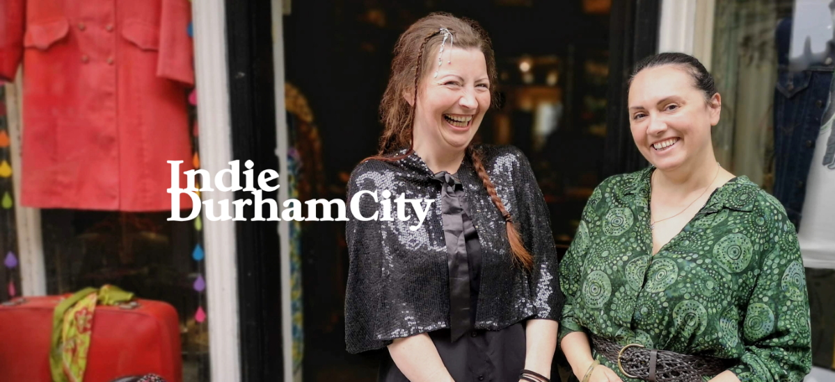 Chloe and Claire at Circle Vintage in Durham