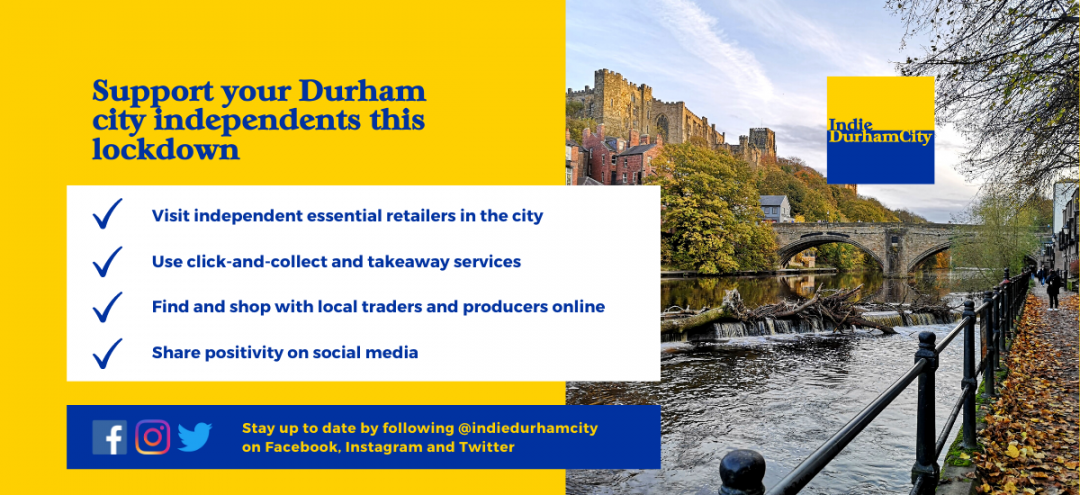 Support your Durham city independents this lockdown